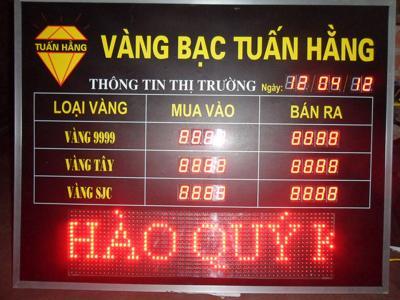 Bảng điện tử Tiệm Vàng cao cấp