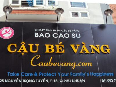 Bảng hiệu Bao Cao Su  phá cách