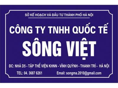 Bảng hiệu công ty Sông Việt  phá cách