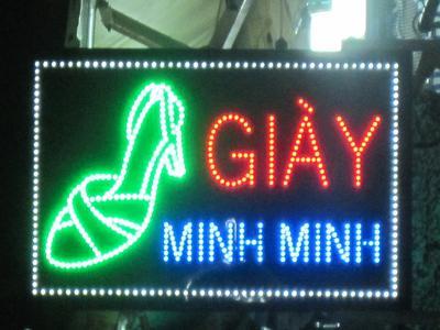Bảng hiệu quảng cáo Dày  nghệ thuật