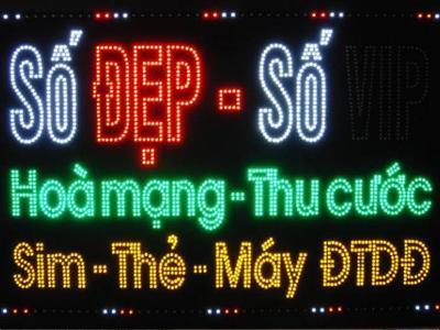 Bảng hiệu điện tử quảng cáo ĐTDĐ cao cấp