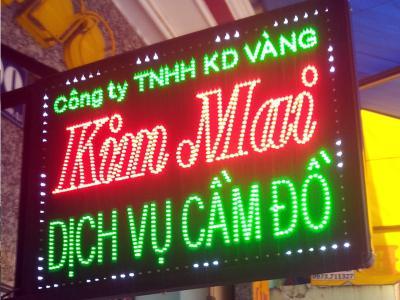 Bảng hiệu hộp đèn Kim Mai tuyệt đẹp