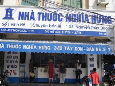 Bảng hiệu nhà thuốc Nghĩa Hưng cao cấp