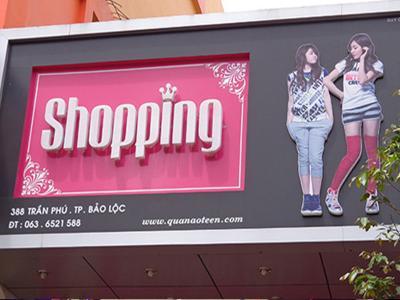 Bảng hiệu Shop Thời Trang cao cấp